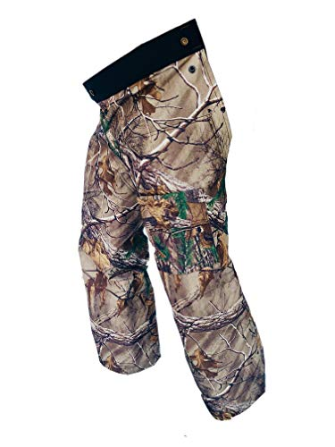 - Forester Chainsaw Safety Chaps - Full Wrap Zipper - Real Tree Camo (Short (35