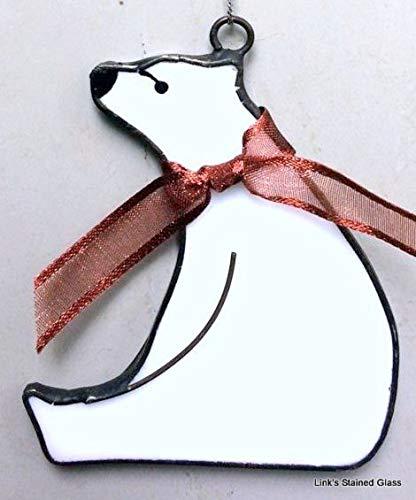 (Stained Glass Polar Bear Sun)