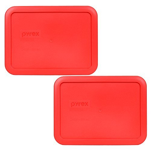 Pyrex 7210-PC Rectangle Red 3 Cup Storage Lid for Glass Dish (2, Red)