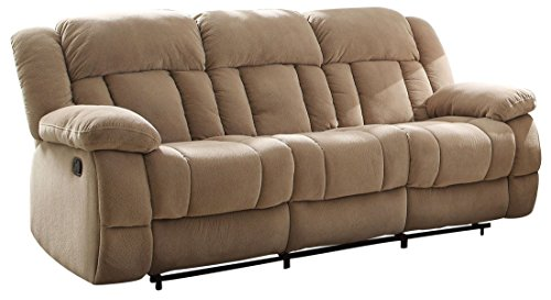 UPC 700814917951, Homelegance Laurelton Double Reclining Sofa in Taupe Polyester