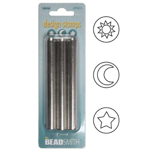 Beadsmith 3-Piece 5mm Celestial Punch Set for Stamping Metal, 3/16-Inch