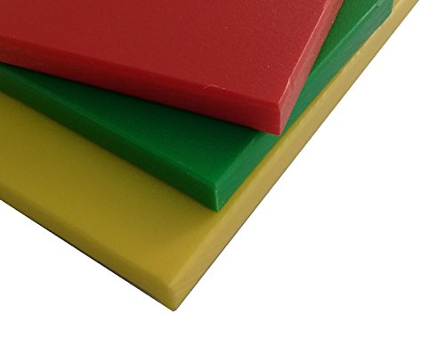 HDPE / Sanatec Plastic Cutting Board Set of 3 - Red, Yell...