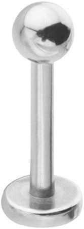 "5 Pc CZ Gems Surgical Steel Helix Tragus Lip Piercing Labret Stud Ring 16g 5//16/"""