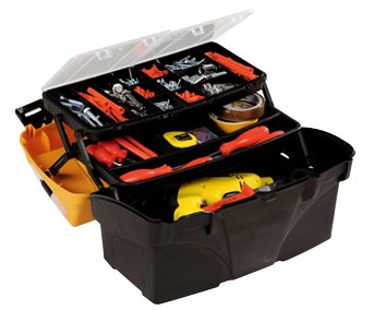 17 Cantilever Tool Box - Hobby Plano PCL 17Cantilever Tool Box with 3Removable Portaminuterie of which 2on the lid, black