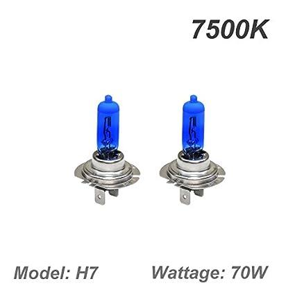 GP Thunder GP75-H7 Super White H7 12V 70W Halogen Xenon Bulb with Quartz Glass High Wattage 7500K 2 Bulbs
