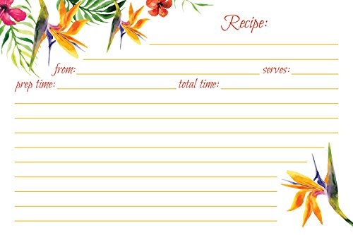 Jot & Mark Recipe Cards Floral Double Sided 4x6 (Set of 50)