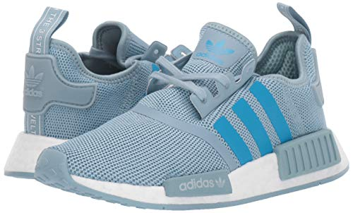 adidas Originals Unisex NMD_R1 Running Shoe ash Grey/Shock Cyan/White 4 M US Big Kid by adidas Originals (Image #6)