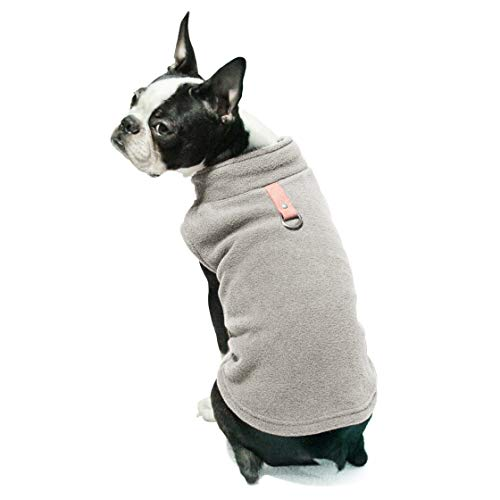 Gooby - Fleece Vest, Small Dog Pullover Fleece Jacket with Leash Ring, Gray, X-Large