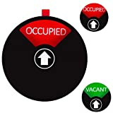 Privacy Sign for Offices or Homes - Do Not Disturb Sign, Restroom Sign, Office Sign, Conference Sign, Vacant Sign, Occupied Sign - Tells Whether Rooms are Vacant or Occupied, 4 inch, Black