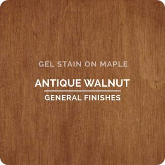 General Finishes AH Gel Stain, Half pint, Antique Walnut