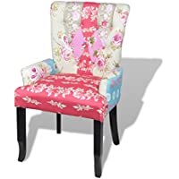 SKB Family Patchwork Armchair Fabric Upholstery French Style Seat