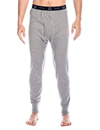Noble Mount Men's Classic Waffle Knit Thermal Long John Pants