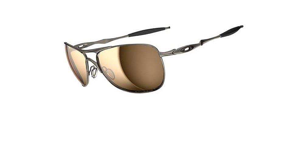 ed1ce45807a Amazon.com  Oakley Titanium Crosshair Men s Polarized Sunglasses - Titanium Tungsten  Iridium  Clothing