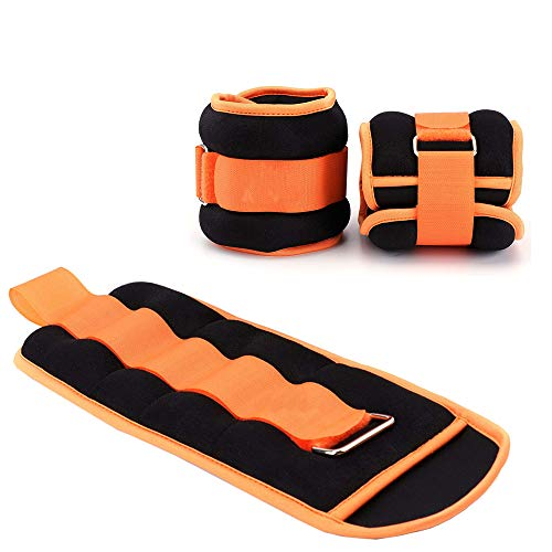 MEHO Ankle Weights, Wrist Weights for Women Men, Leg Weights with Adjustable Strap, Fitness, Resistance Training, Running – 1lb to 10lbs Pair