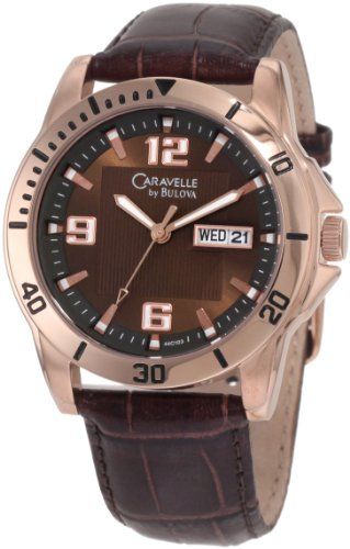 Caravelle by Bulova Men s 44C103 Leather strap sport Watch