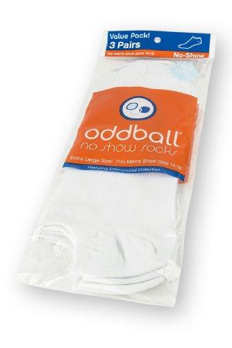 Free Oddball No Show Men's Socks XXL 3-Pack