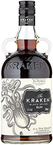 El Kraken Negro 700 ml ron condimentado (paquete de 70 cl)
