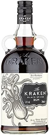 El Kraken Negro 700 ml ron condimentado (paquete de 6 x 70 cl ...
