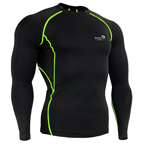 Baleaf Men's Cool Dry Skin Fit Long Sleeve Compression Shirt Color Green Size - Color Cool Skin
