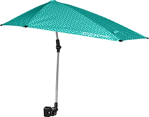 Sport-Brella Versa-Brella SPF 50+ Adjustable Umbrella with Universal Clamp, Regular, Turquoise (Flat Spot On Back Of Babys Head)
