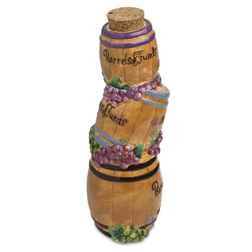 "Epic 02-506 Lavish Hand-Decorated ""Barrels of Funds"" Ceramic Funds Money Bank"