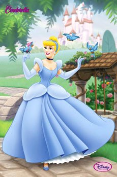 Disney Cinderella Poster - birds and castle