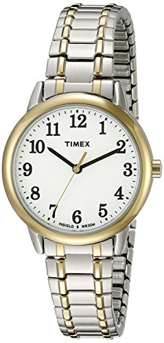 Timex Women's TW2P78700 Easy Reader Two-Tone Stainless Steel Expansion Band Watch ()