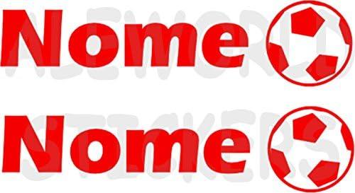 AWS 2 pegatinas Sport con nombre personalizados H 2 cm Fútbol ...