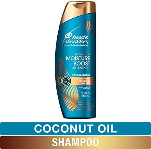Head and Shoulders Shampoo, Anti Dandruff Treatment, Royal Oils Collection with Coconut Oil, for Natural and Curly Hair, 13.5 fl oz