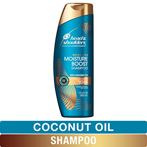 Head and Shoulders Shampoo, Moisture Renewal, Anti Dandruff Treatment and Scalp Care, Royal Oils Collection with Coconut Oil, for Natural and Curly Hair, 13.5 fl oz (Best Shampoo For Winter Dandruff)