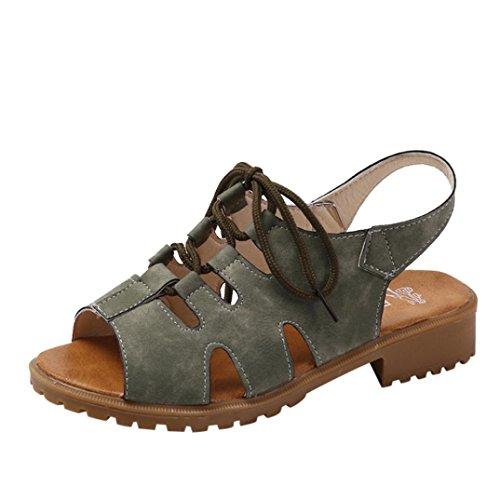Beautyjourney Respirantes SoiréE Cales Arena Strass de Chaussures Sandales Anti Tongs Sandales Vintage Plage Vert Rome DéRapage Plates Sandales wBnwq4SHr