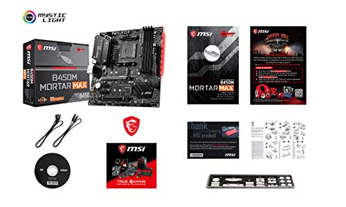 MSI Mortar Max AM4 AMD B450 ATX DDR4-SDRAM Motherboard