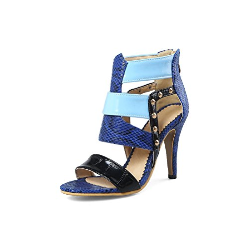blu sandali sandali 37 marina i sandali sexy signore signore vuoto color alto tacco sandali YfPAWxUqw