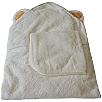 Region King Extra Soft Baby and Toddler Hooded Towel and Washcloth Set (White)