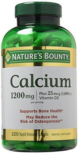 Nature's Bounty Calcium 1200 mg Plus Vitamin D3 1000 IU, 220 Softgels