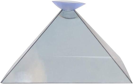Dengofng Proyector Pirámide Pantalla Holograma Miniatura Plano Plegable Video Universal 3D para teléfono Inteligente: Amazon.es: Electrónica