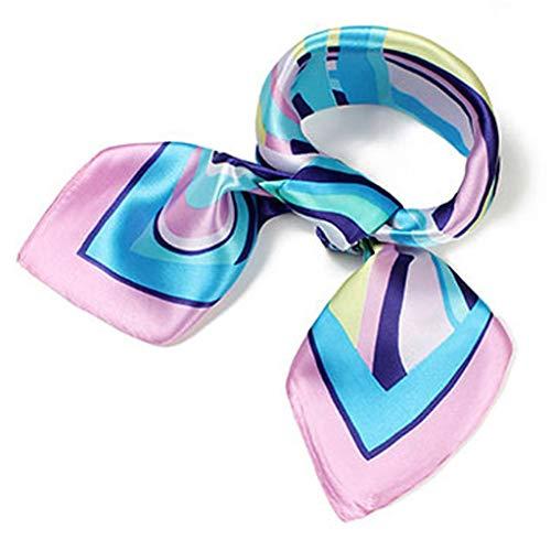 (Women's Silk Satin Small Square Scarf Neck Head Hair Ladies Scarf Fashion Scarves Mixed Pattern Print Wraps 60x60cm S003)