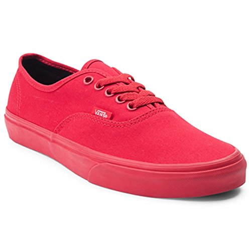 Vans Authentic Skate Shoe (Mens 5/ Womens 6.5, Red) (Women Red Vans)