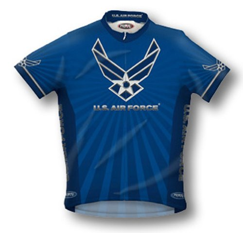 (Primal Wear Men's US Air Force Military Short Sleeve Cycling Jersey - USAFR6JER (XXL))