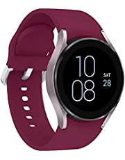 Leishouer Rem kompatibel med Samsung Galaxy Watch 4 40 mm 42 mm 44 mm 46 mm, 20 mm mjukt silikon sport handledsband ersättning för Samsung Galaxy Watch 3 41 mm Active 2 40 mm 44 mm