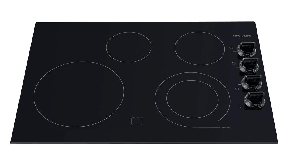 """Frigidaire Gallery Black 30"""" 30 Inch Electric Stovetop Cooktop FGEC3045KB"""