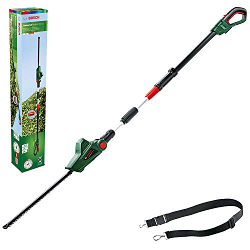 Bosch Home and Garden 06008B3070 UniversalHedgePole 18 Cordless Telescopic Hedgecutter with 18 V Lithium-Ion Battery, Green