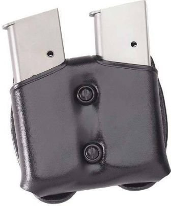 Galco CDM Cop Double Mag Case for .45, 10mm Single Column Metal Magazines (Black, Ambi) (Double Case Magazine Galco)