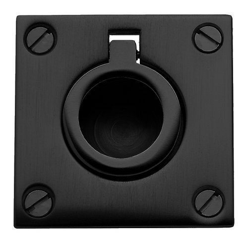 - Baldwin 0393.190 Satin Black Flush Ring Pull