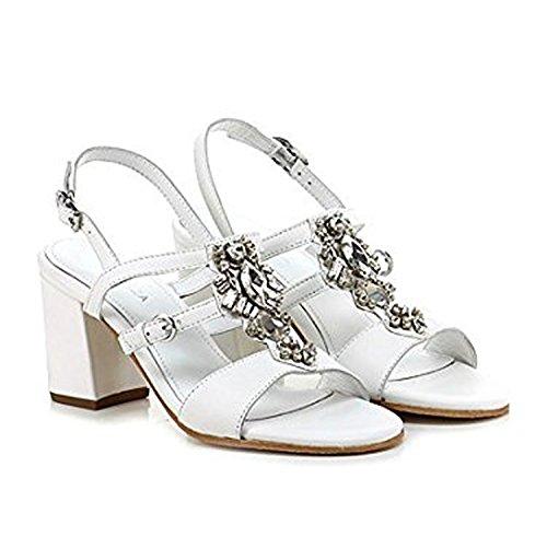 APEPAZZA PAL09 PENNY GAUCHO BIANCO,sandalo gioiello,bianco,pelle,pietre dure