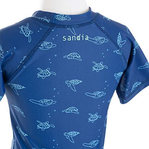子供水着 男の子 キッズ 水着 sandia サンディア ラッシュガードセット ウミガメ総柄