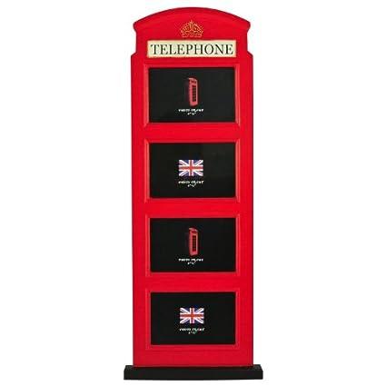 Nava Wood Classic UK London Red Telephone Booth 4X6\
