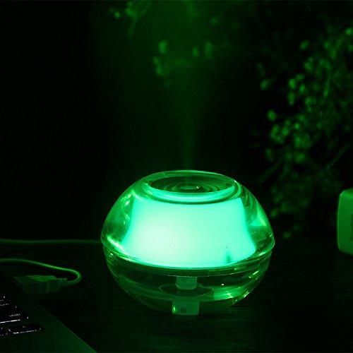 USB LED Night Light Lamp Crystal Ultrasonic Air Humidifier Aroma Hayfever Diffuser