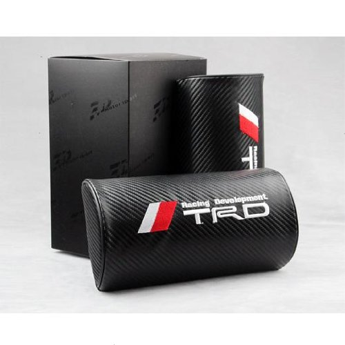 free-shipping2pcs-auto-toyota-trd-air-hole-carbon-fiber-car-seat-neck-rest-belt-headrest-pads-pillow