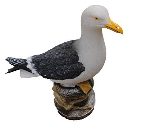 SDL Imports SEAGULL ON A BOLLARD 15cm high Ornament
